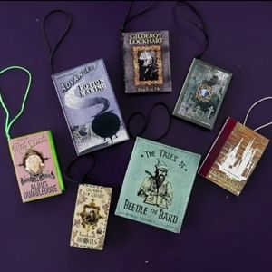 HANDMADE HARRY POTTER BOOK ORNAMENTS